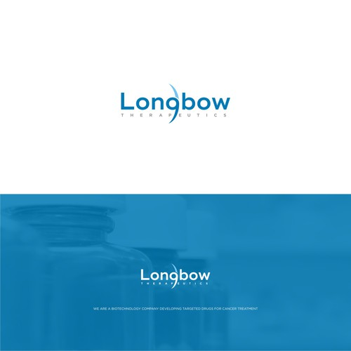 A logo design for Longbow Therapeutics, a new biotechnology company