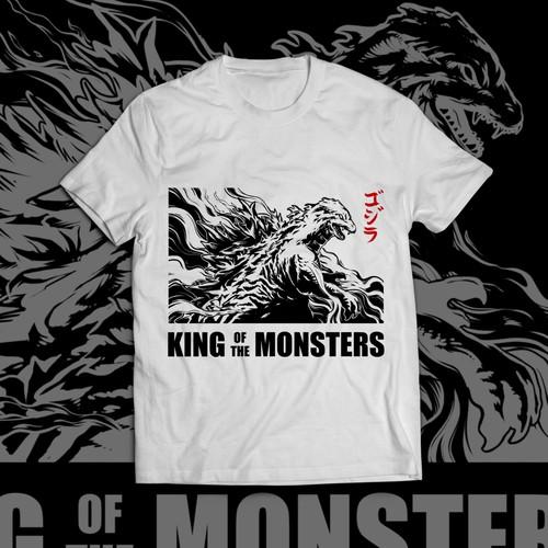 Godzilla Tshirt Design
