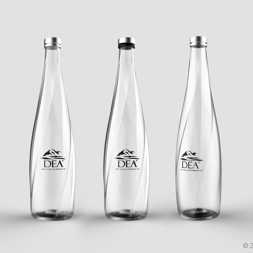 Bottle concept for mineral water.