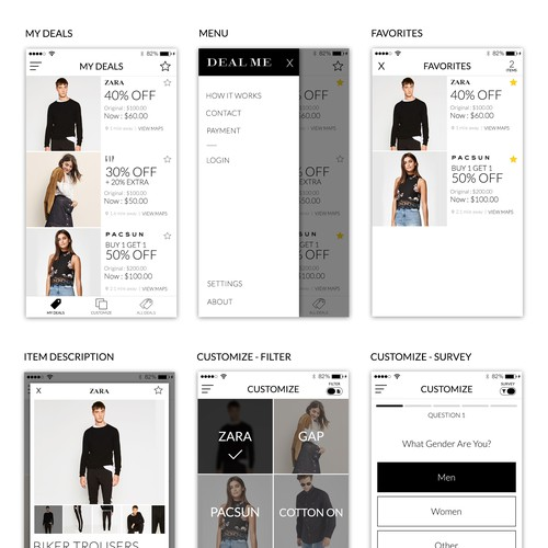 DealMe App UI/UX Design