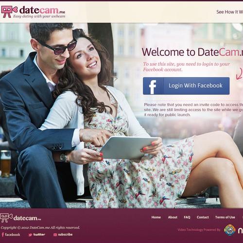 Design concept for datecam website