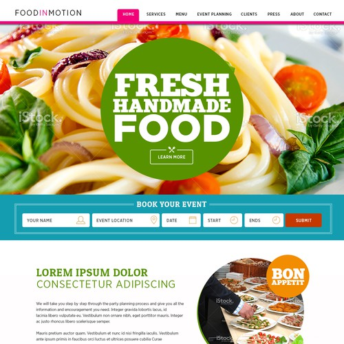 Catering Flash site to responsive Wordpress one pager design