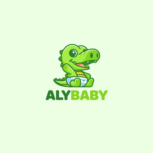 Mascot logo for Aly Baby
