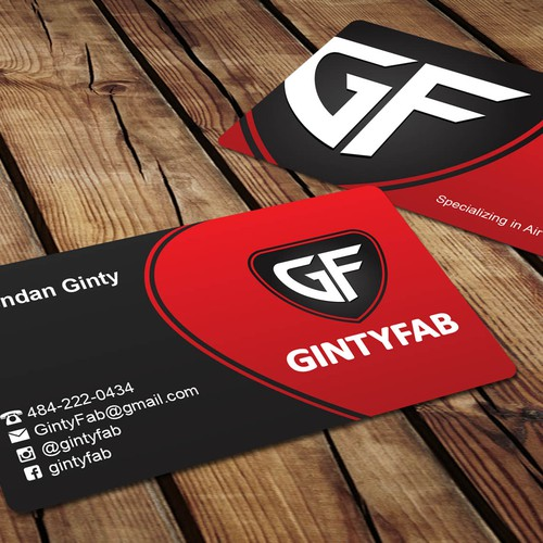Business card concept for Gintyfab