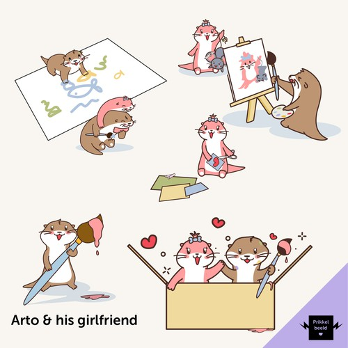 A fun Otter mascot to complete the Art-Holics family!