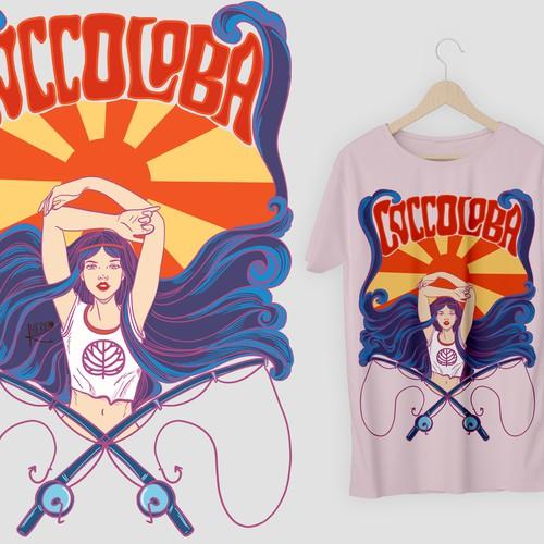 Retro Sea Goddess design v.2 for Coccoloba