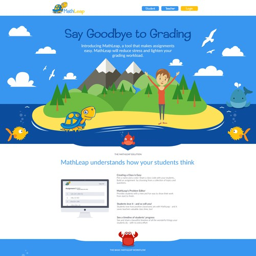 MathLeap Landing Page