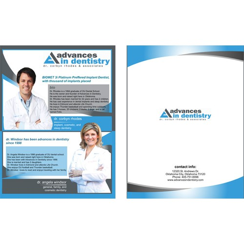 advances in dentistry needs a new brochure design