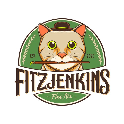 Cat logo concept for Fitzjenkins Fine Art