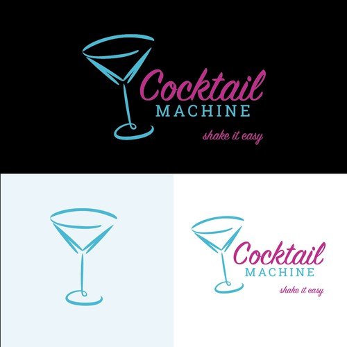 Bright, Bold logo for a Machine that makes Cocktails