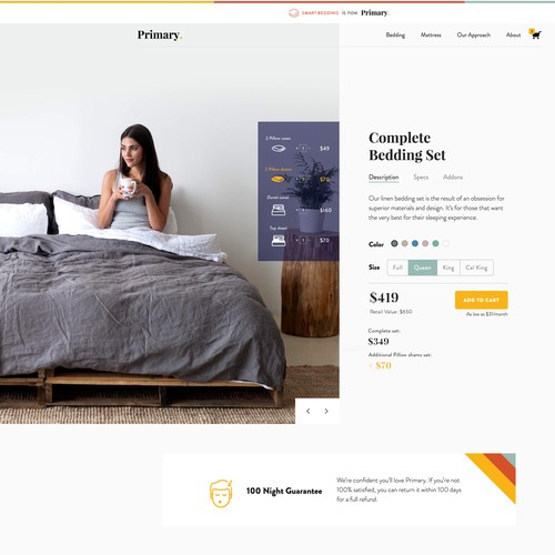 Redesign products item view