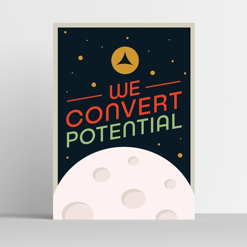 Mid-century moon race inspired poster design