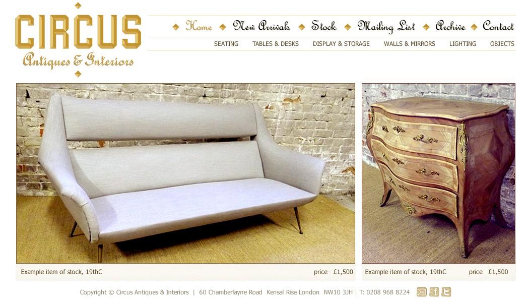 London based Antiques dealer needs new web site