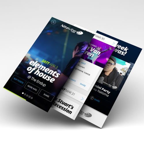 Mobile Design for a Night Life Guide