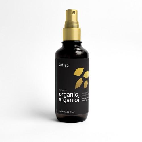 Label Design Concept for Cosmetic Argan Oil