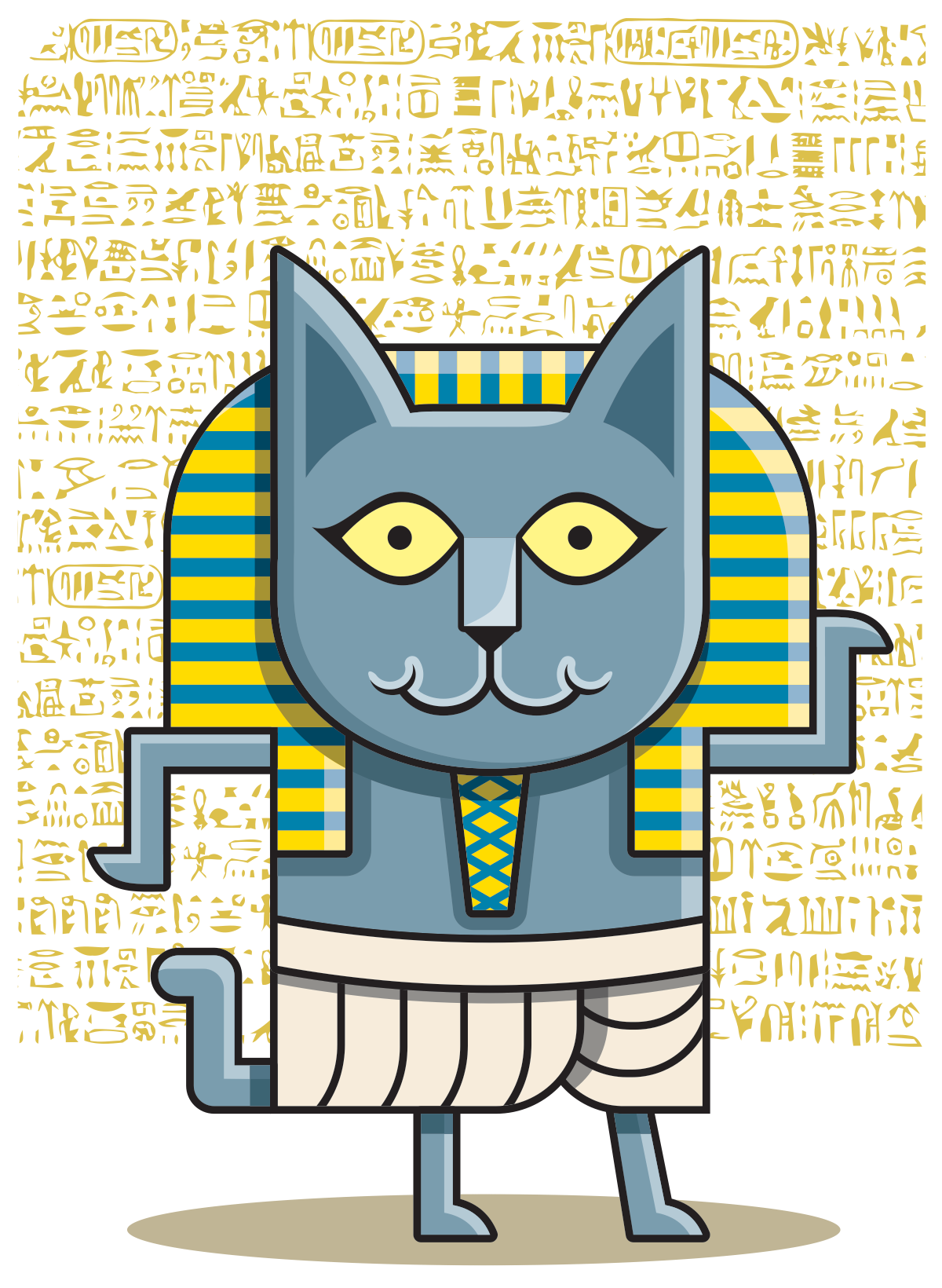 Pharaoh cat merch design