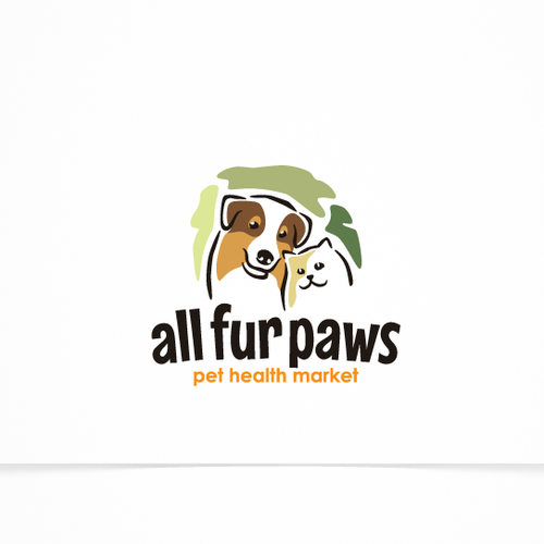 Logo Concept For A Dog And Cat Natural Pet Food Store