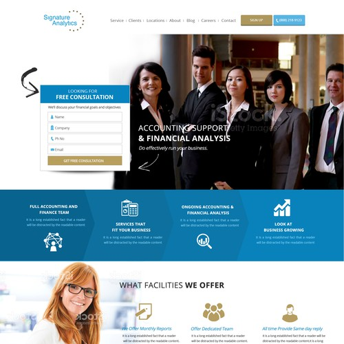 Landing Page for Outsource Accounting