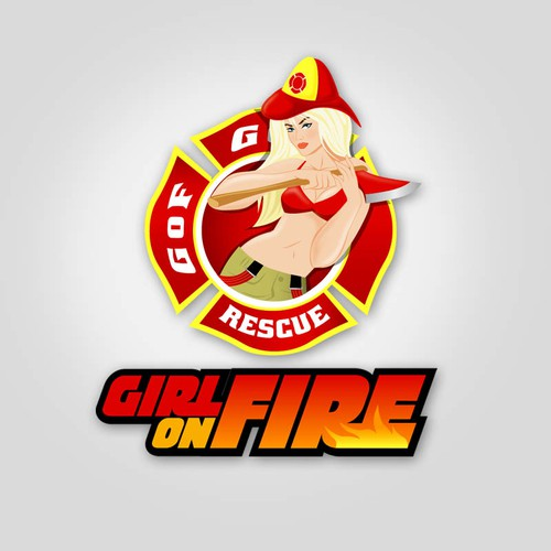 Girls on Fire - hot logo needed for female firefighters