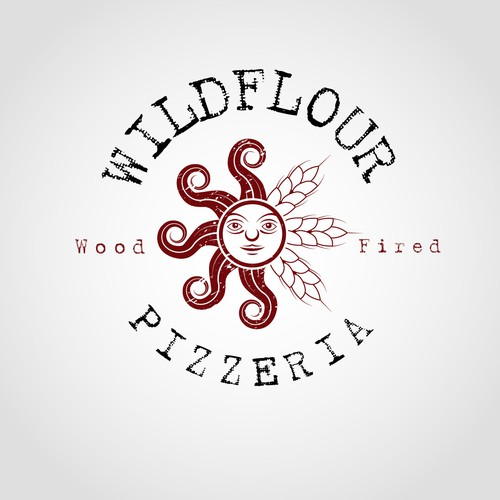 Create the next logo for Wildflour Pizzeria