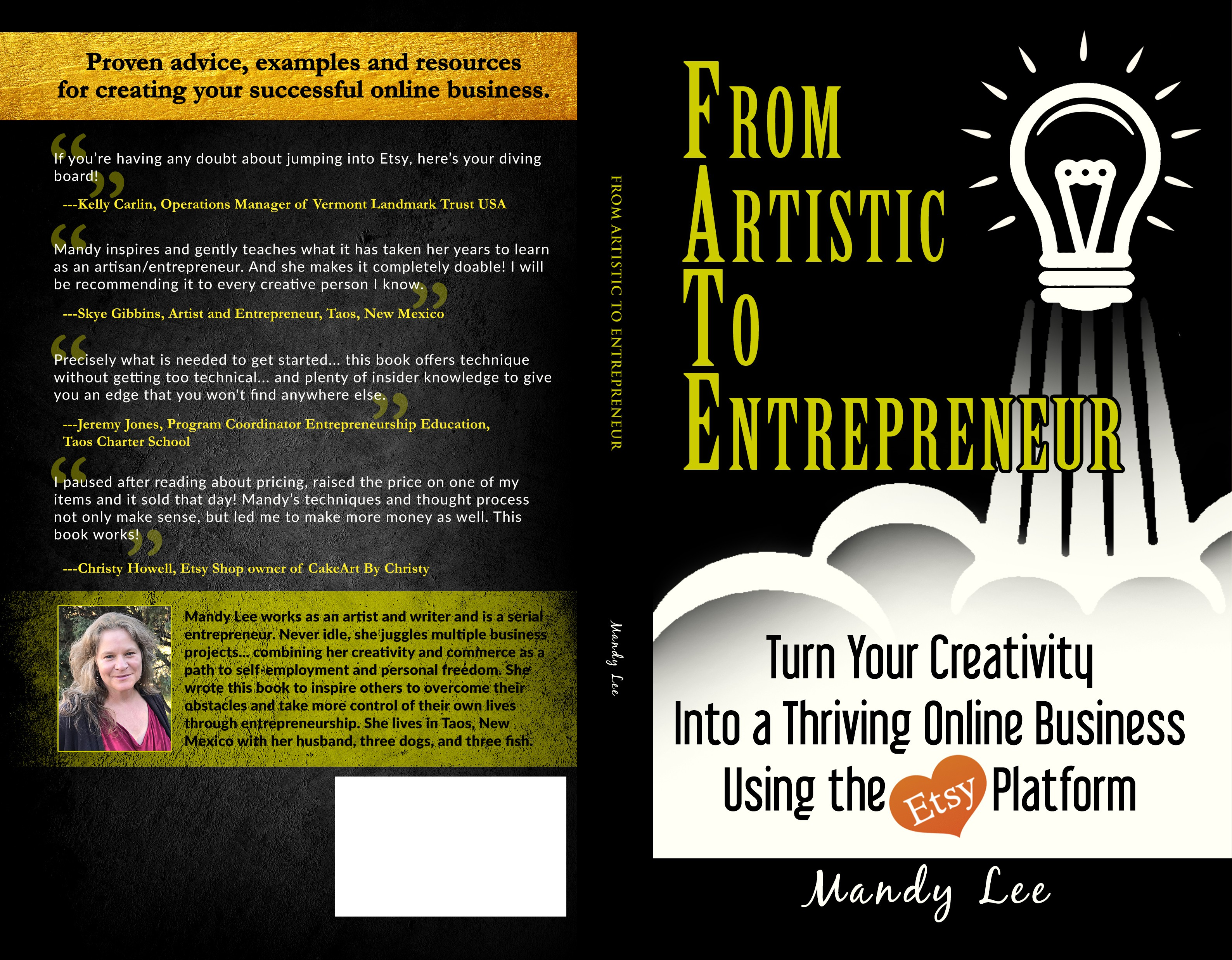 From Artistic to Entrepreneur guidebook needs engaging cover!