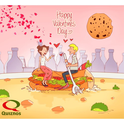 Quiznos 2017 Calendar of Food Illustrations **GUARANTEED** AWARDING 14 WINNING DESIGNS**