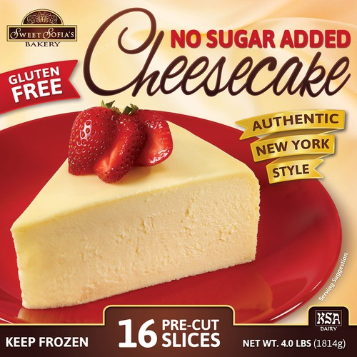 No Sugar Added Cheesecake - Package Design (Sweet Sofia's Bakery)