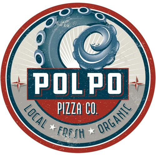 Logo design for Polpo Pizza Co.