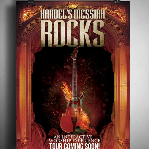 Hendel's Messiah Rocks concert poster