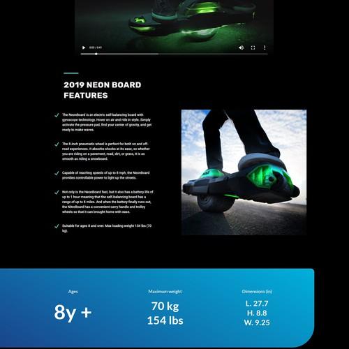 Neon Board Landing Page