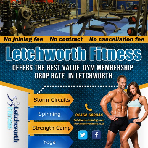 Create a flyer for a gym!