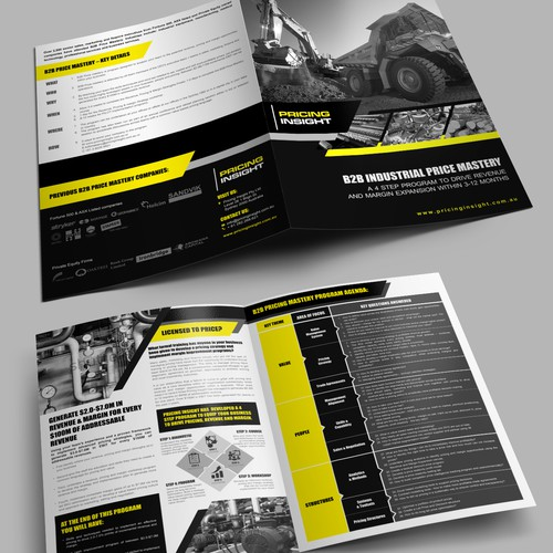 B2B Industrial Pricing Mastery course brochure