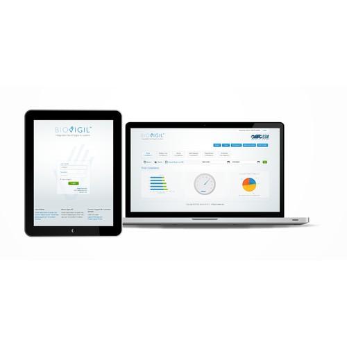 website or app design for BioVigil