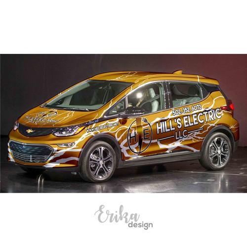 Brand New Car Wrap!! 2017 Chevy Bolt!
