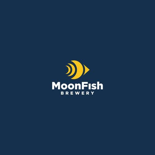 MoonFish logo concept