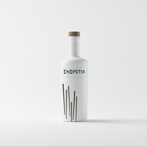 Minimalistic Sake Label Design