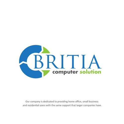 Logo Concept For Britia Computer Solution