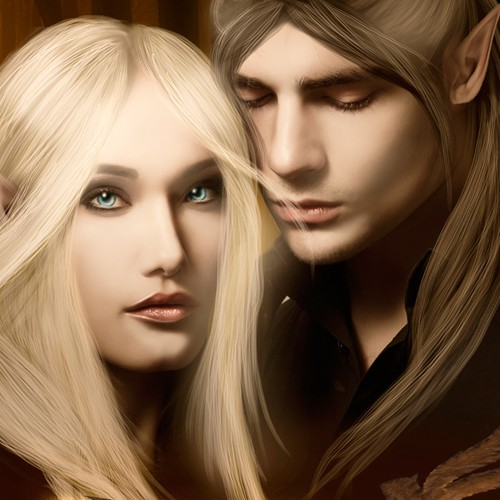 Elven Lovers Fantasy Novel Book Cover