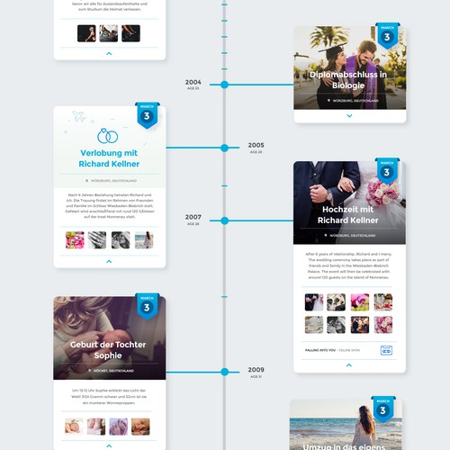Clean Infographic Concept for German Startup
