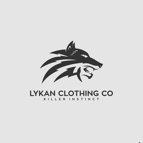 Simple and modern logo concept for Lykan Clothing