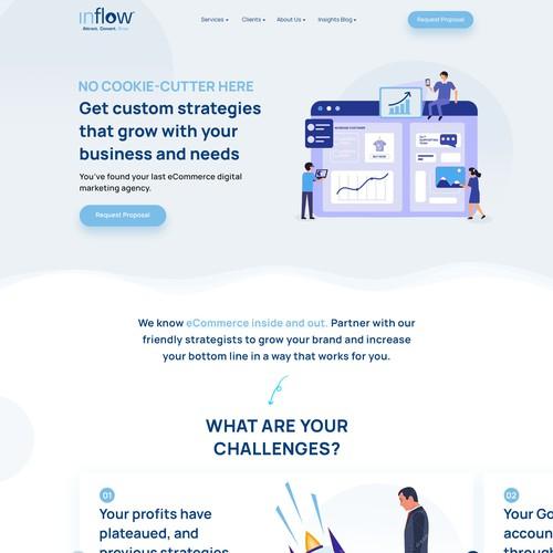 Inflow Website's Redesign