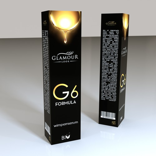 packaging concept for glamour look