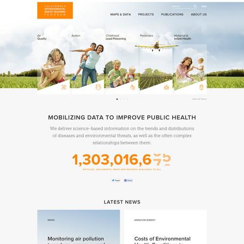 Website for the California Environmental Health Tracking Program