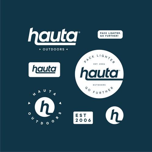 Responsive logotype / wordmark design for Hauta Outdoors