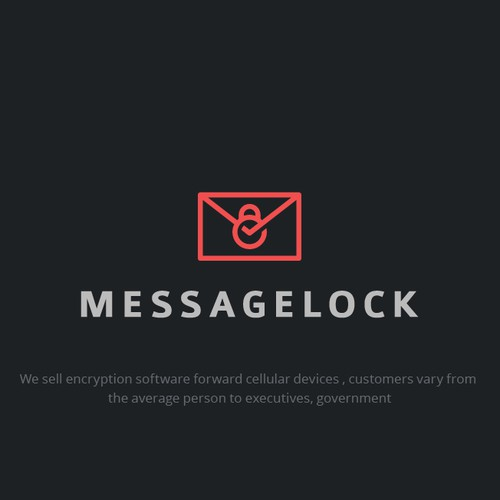 clever logo for message lock.