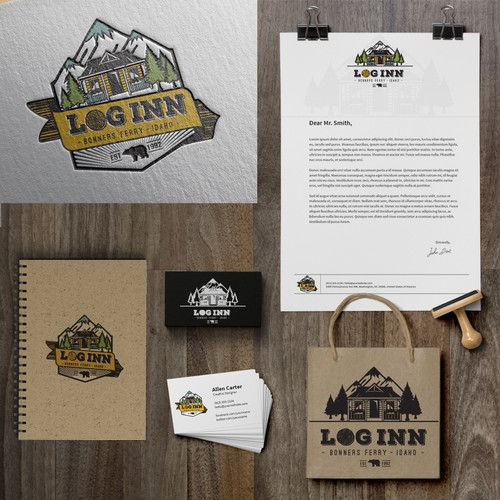 Logo concept for Log Inn