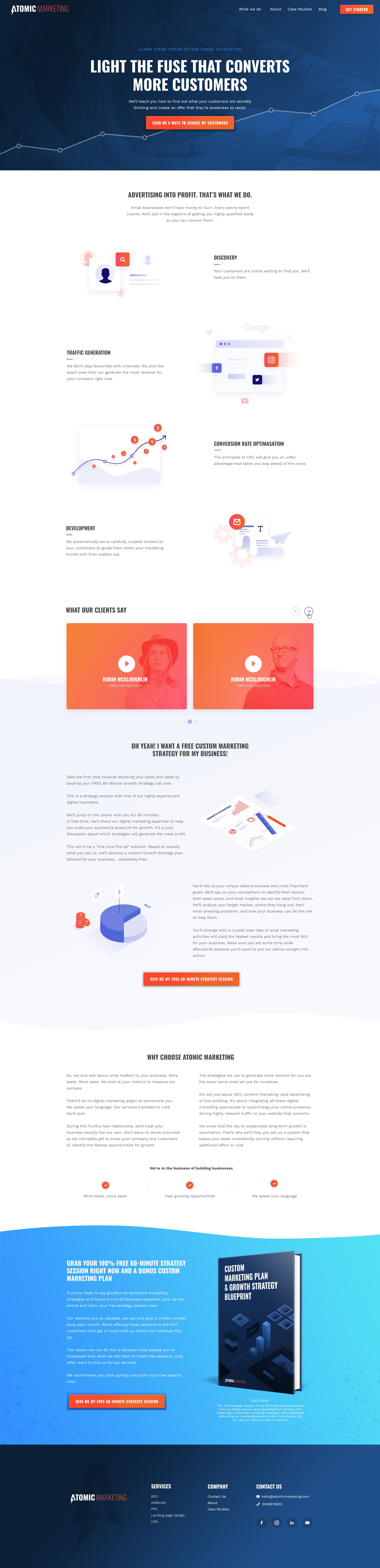 Homepage & Multi Stage Form design