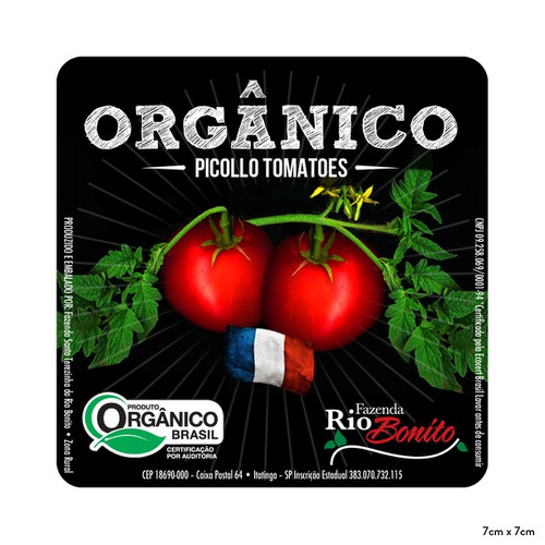 Create a Label for Organic Cherry Tomatoes