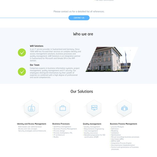 Joomla template design for IT consulting company