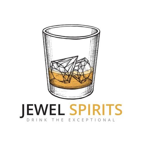 Logo for a liquor company